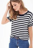 Forever21 Striped Knit Crewneck Sweater