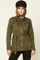 Forever21 Button-front Utility Jacket