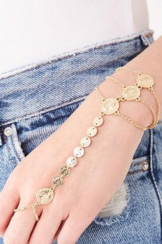Forever21 Coin Charm Hand Chain
