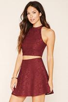 Forever21 Women's  Lace Overlay Skirt