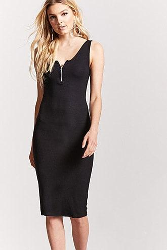 Forever21 Zip-front Bodycon Dress