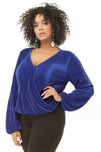 Forever21 Plus Size Accordion Pleat Top