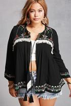 Forever21 Plus Size Embroidered Cardigan