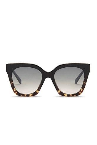 Forever21 Chain-embellished Square Sunglasses