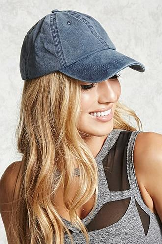 Forever21 Faded Denim Baseball Cap