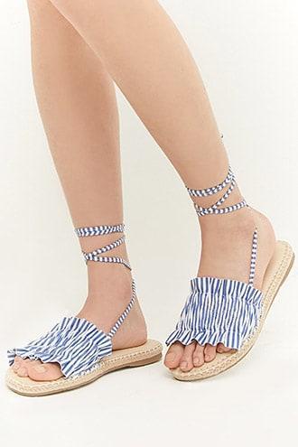 Forever21 Mia Striped Espadrille Sandals