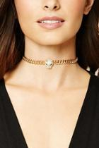 Forever21 Faux Leather Chain Choker Set