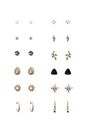 Forever21 Assorted Studs & Mini Hoop Earrings Set