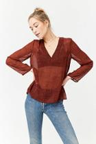 Forever21 High-low Chiffon Top