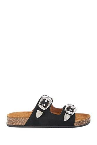 Forever21 Etched Faux Leather Sandals
