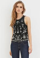 Forever21 Beaded Chiffon Top