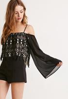 Forever21 Crochet Open-shoulder Crop Top