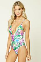 Forever21 Tropical Print One Piece