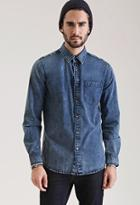 Forever21 Acid Washed Denim Shirt