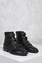 Forever21 Buckled Stud Ankle Boots