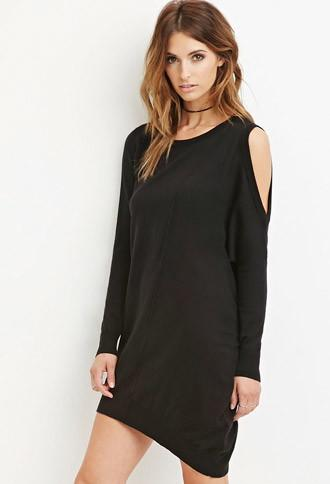 Love21 Open-shoulder Dress