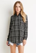 Forever21 Tartan Plaid Pocket Shirt