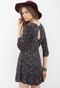 Forever21 Woven Paisley Print Dress
