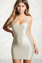 Forever21 Metallic Mini Bodycon Dress