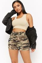 Forever21 Knit Camo Shorts