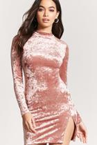 Forever21 Crushed Velvet Mini Bodycon Dress