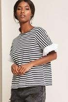Forever21 Striped Dolman Sleeve Top