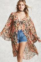 Forever21 Contemporary Floral Cardigan