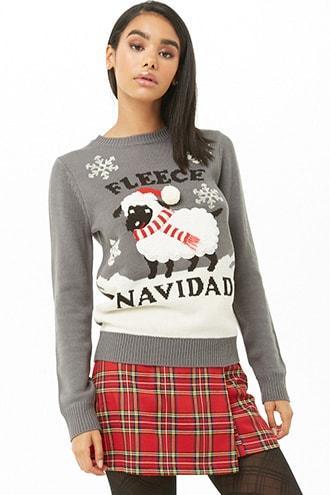 Forever21 Fleece Navidad Graphic Sweater