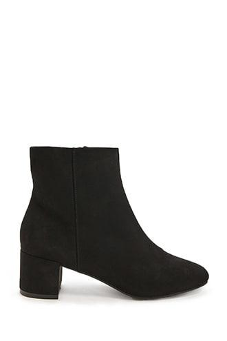 Forever21 Faux Suede Ankle Boot