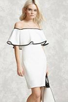 Forever21 Contrast-piped Flounce Dress