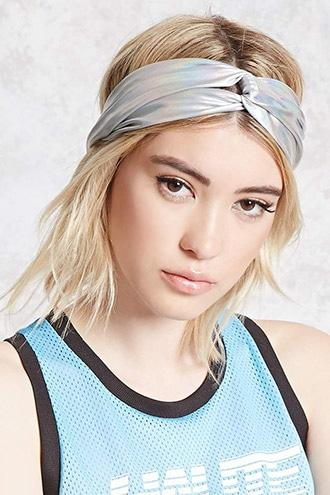 Forever21 Iridescent Twist-front Headwrap