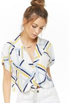 Forever21 Abstract Striped Shirt