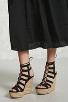 Forever21 Faux Suede Espadrille Wedges