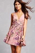 Forever21 Floral Trapeze Mini Dress