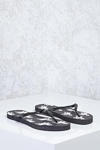 Forever21 Unicorn Print Flip Flops
