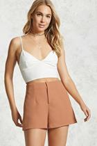 Forever21 Textured High-waist Shorts