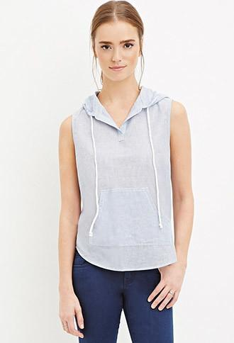 Forever21 Striped Cotton Hoodie