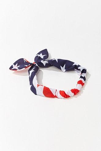 Forever21 American Flag Print Headwrap
