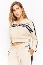 Forever21 Juicy Couture Varsity-striped Hoodie
