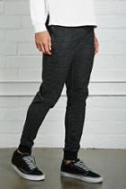 21 Men Men's  Black Marled Knit Joggers