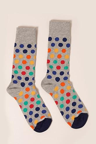 Forever21 Men Unsimply Stitched Polka Dot Crew Socks