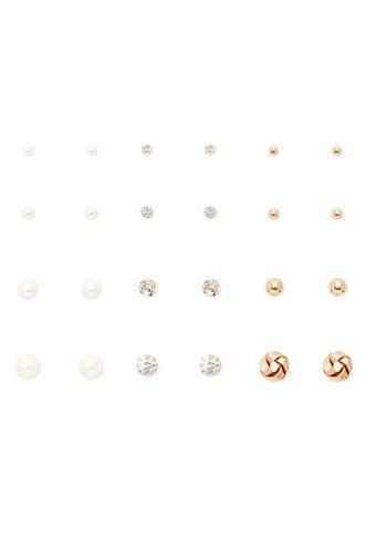 Forever21 Rhinestone Stud Earring Set