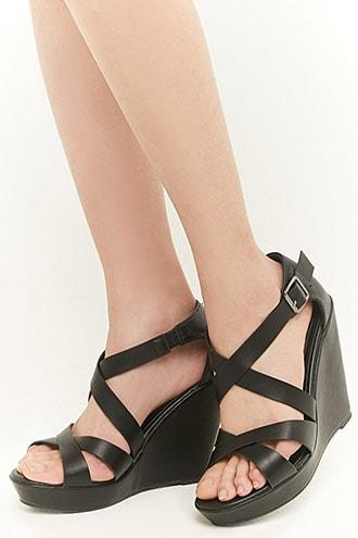 Forever21 Faux Nubuck Leather Wedges