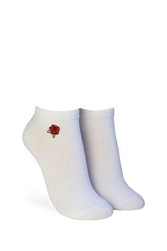 Forever21 Floral Ankle Socks