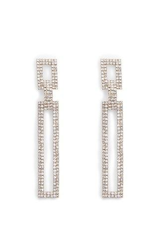 Forever21 Pave Geo Drop Earrings