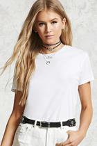 Forever21 Raw-cut Tee