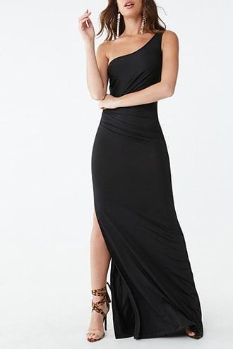 Forever21 One-shoulder Slit Gown
