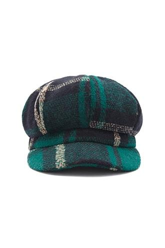 Forever21 Brushed Plaid Cabby Hat
