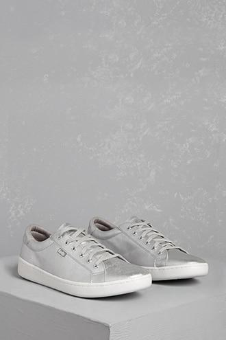 Forever21 Keds Metallic Leather Sneakers