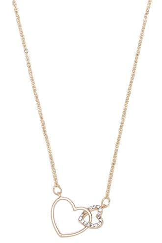 Forever21 Intertwined Heart Charm Necklace